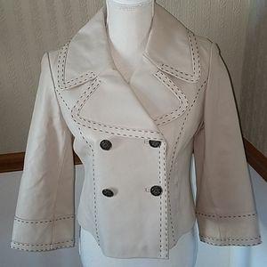 Wilson's Leather light beige leather jacket size M